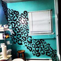 Hand painted leopard print wall paint   roooom ideas ...