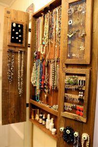 Jewelry Organizer - Organization - Wall Unit - Wooden ...