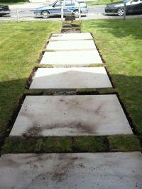 Concrete step stone walkway | Brick House Ideas | Pinterest