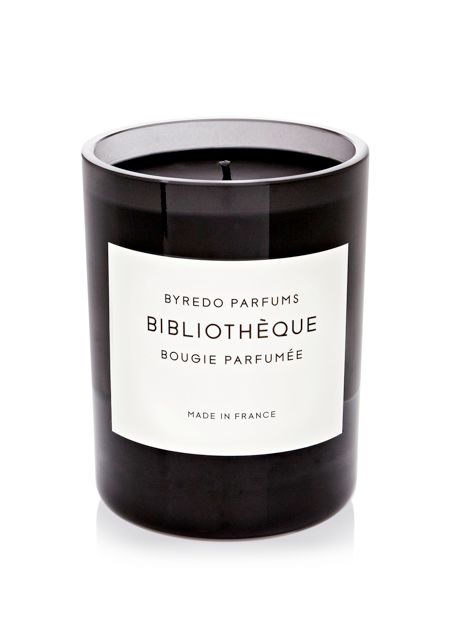 Library scented candle.