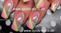 Pastel colors & glitter nail art design | Nail designs I ...