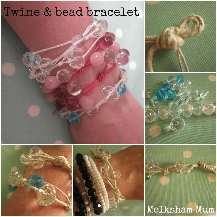 Melksham Mum: #pinaddicts challenge no. 7 - Twine & Bead Bracelet