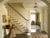 White geometric pattern stair rail | Stairs and Runners ...