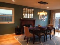 Teal Accent Wall Dining Room - Home Decorating Ideas