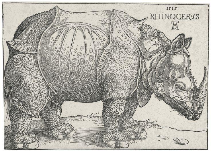 Albrecht Dürer (1471 - 1528), The rhinoceros (B. 136; M., HOLL. 273)
