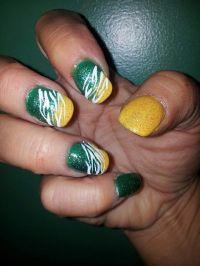 Green Bay Packer nail art | nails | Pinterest