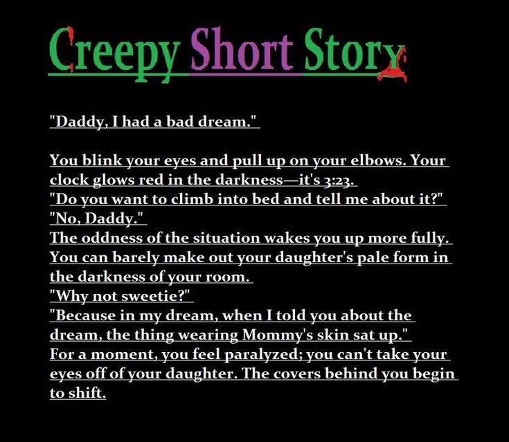 Creepy short story  creepy mess  Pinterest