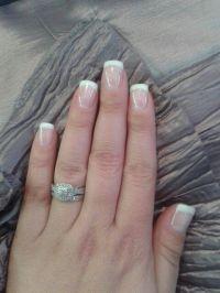 Short french acrylic on own nails! | nails nails nails ...