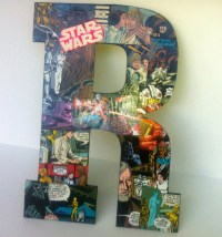 Star Wars Custom Vintage Comic Book Letter Name Room