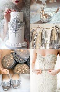 La boda 2014 en color plata es una boda llena de elegancia!