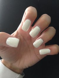 All white acrylic nails #obsessed | Syd | Pinterest