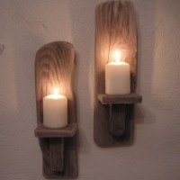 2 Driftwood Wall Candle Sconces from Ireland