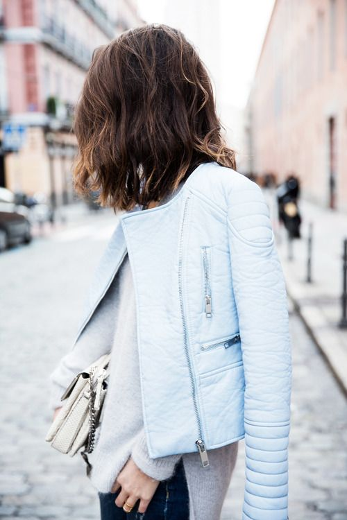 Cashmere and Pastel leather