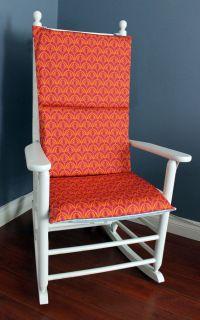 Rocking Chair Cushion - Orange Sea Blue