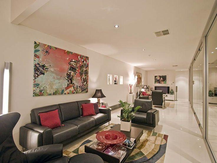 Black Sofa Furniture Arrangement For Long Narrow Living