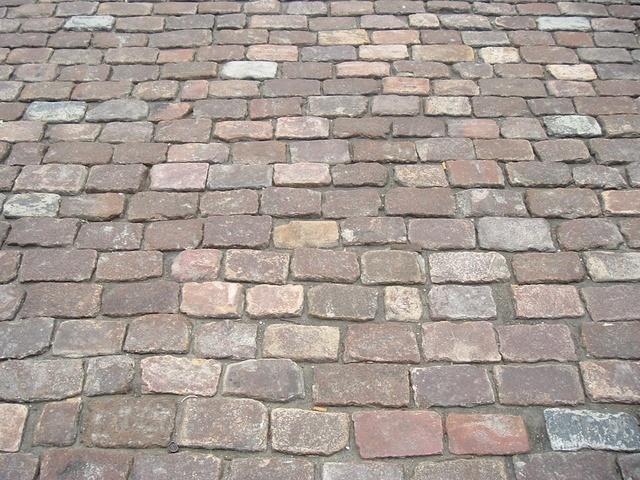 antique cobblestone patio