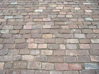 antique cobblestone patio