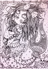 Naughty Pirate Mermaids Coloring Book For You to Color ...