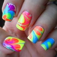 Tie dye nails   Beauty in all it's forms   Pinterest