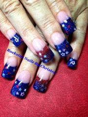 fourth of july acrylic nail tips