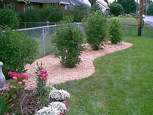landscape chain link fence