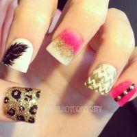 Dramatic nail designs | Get Nailed | Pinterest