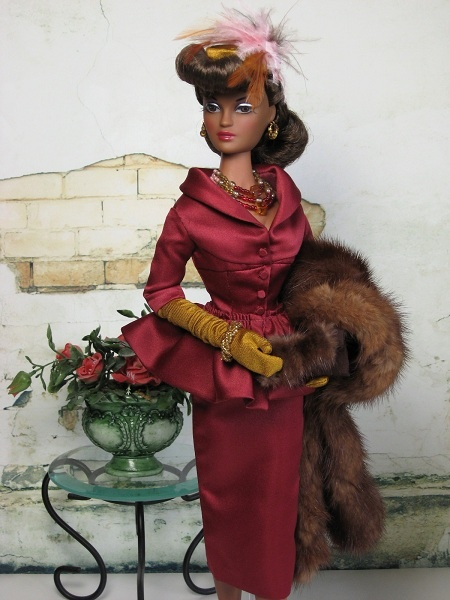 satin suit violet waters fashion doll 15.5 inch