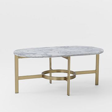 Marble Oval Coffee Table #westelm