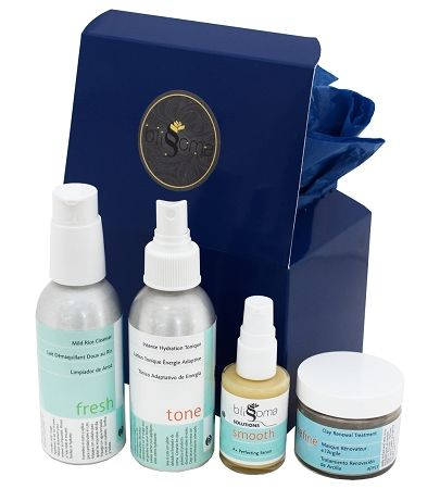Skincare Set for Oily, Acneic, Irritated and Rosacea skin types - complete regimen of anti-inflammatory, healing, smoothing natural skincare