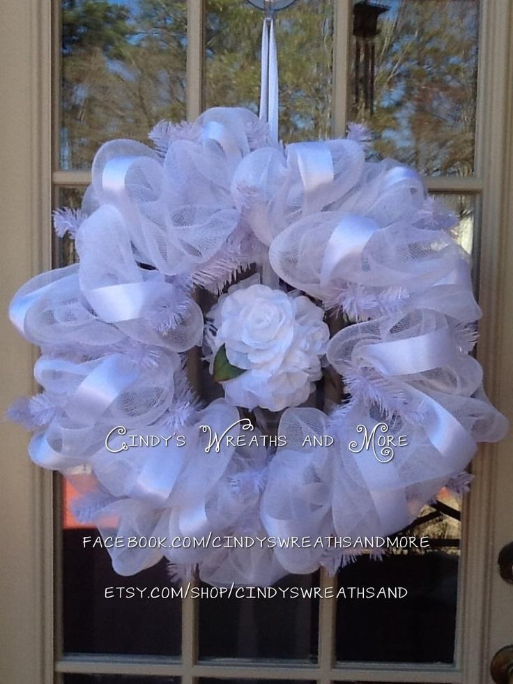 Wedding Wreath Custom order in your Wedding Colors White