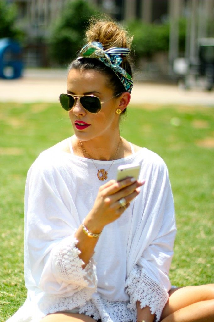 How To Wear Head Scarves Or So Called Bandanas This Summer