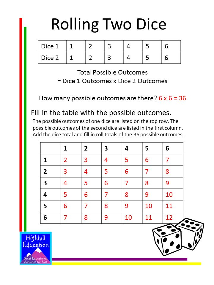 Free Probability Worksheets For Kids