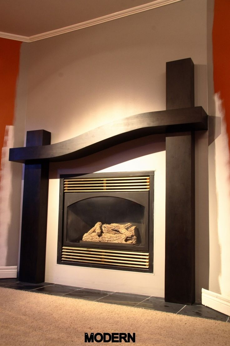 Great Contemporary Fireplace Mantel