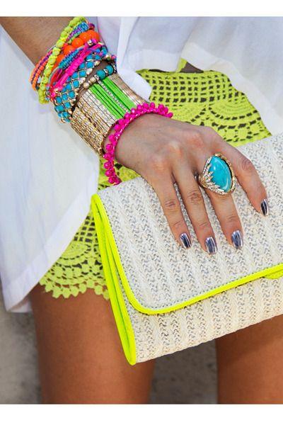 Summer Brights. #fashion #style #accessories
