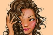 carrie bradshaw curly hair bangs