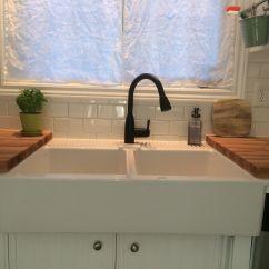 Farmhouse Undermount Kitchen Sink Cabinets Knotty Alder Ikea Drill Hole  Nazarm