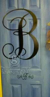Metal Front Door Initial | letters | Pinterest