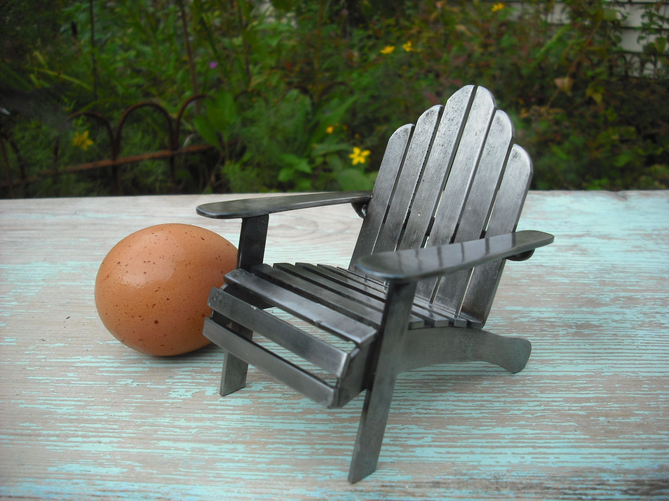 metal adirondack chairs chair exercises on cable tv little welded art pinterest