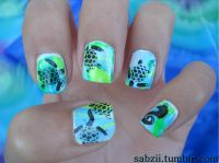 Water Marble Sea Turtle Nails | Nail Designs | Pinterest