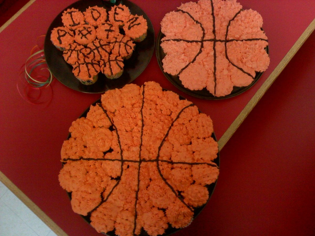 Basketball Cupcake Cake Idea