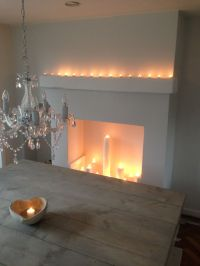 Candle fireplace | UNboring Fireplaces | Pinterest