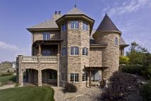 French Country Exterior Home Stone