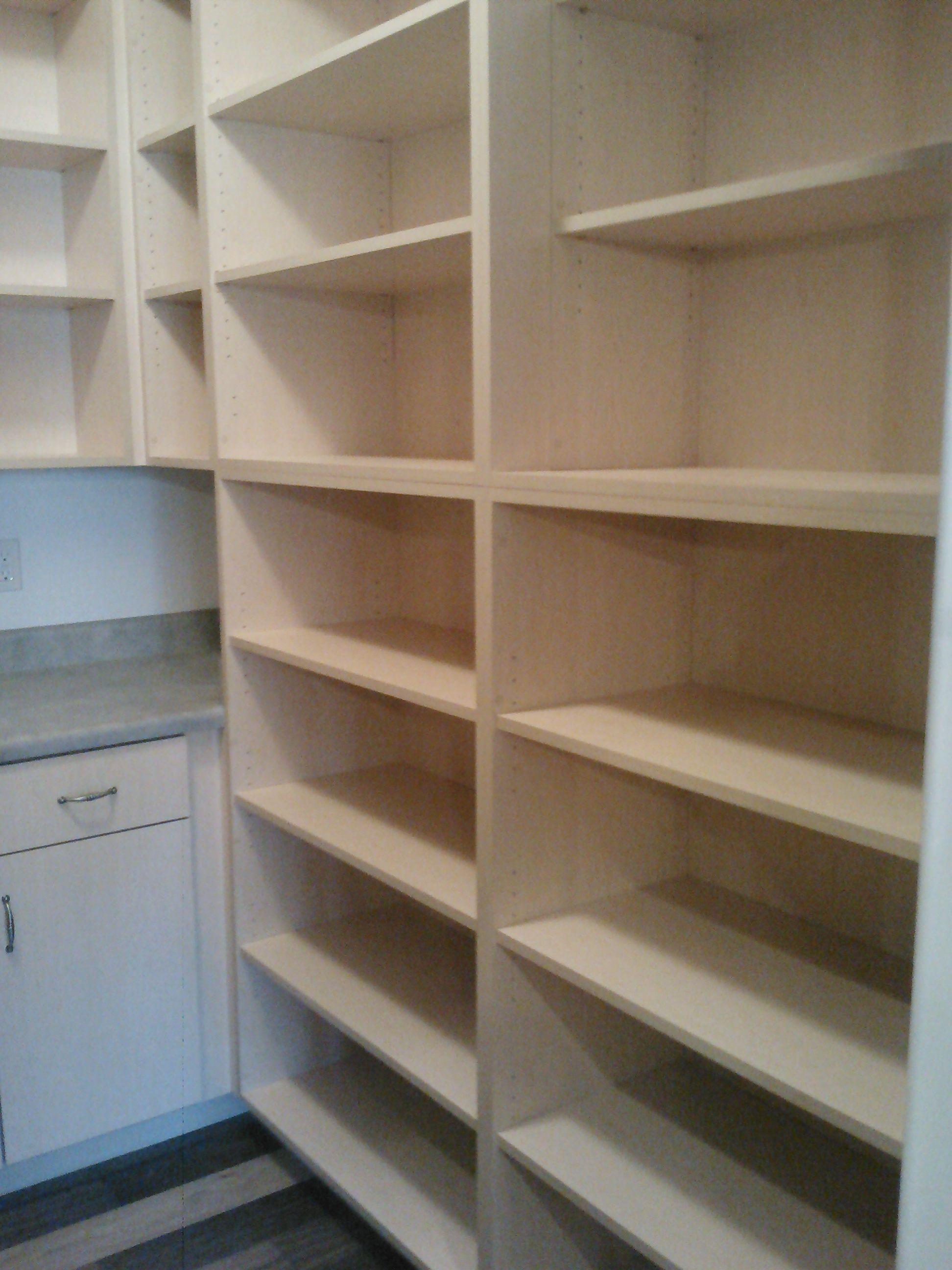 kitchen pantry shelves ceiling tiles walk in pinterest