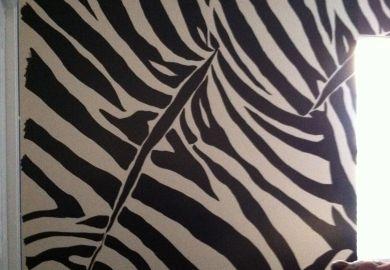 Zebra Print Bedroom Walls