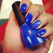 nail art. royal blue nails