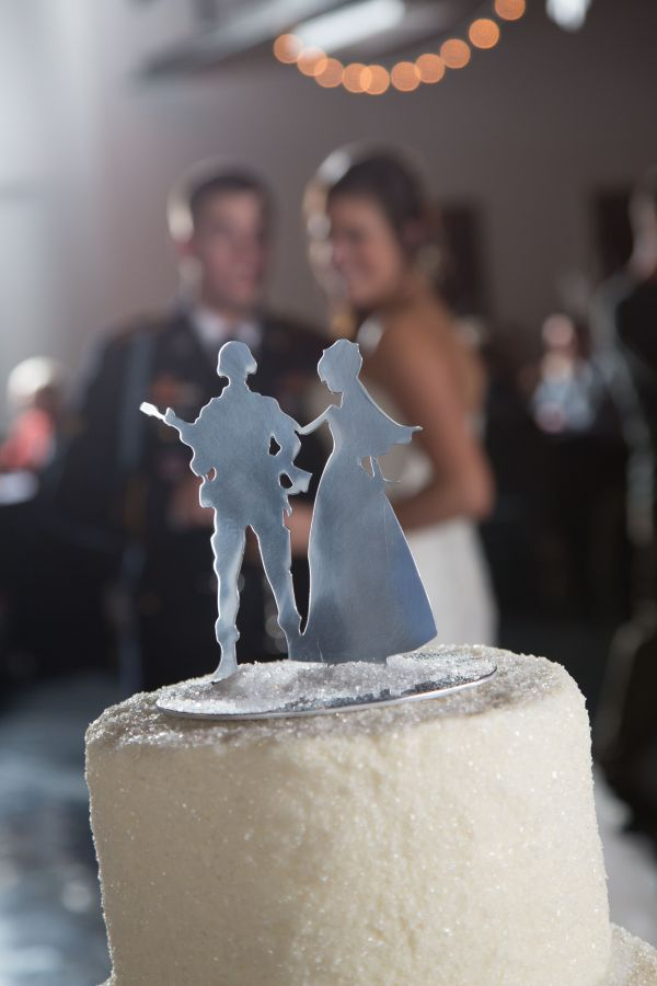 Military Wedding Cake Topper Style
