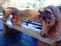 29 Creative Outdoor Horse Benches - pixelmari.com
