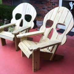 Wooden Skull Chair Armrest Covers For Office Chairs Adirondack Wood To Make Pinterest