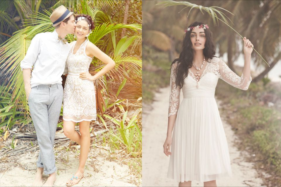 Short Boho Wedding Dress  Big day  Pinterest