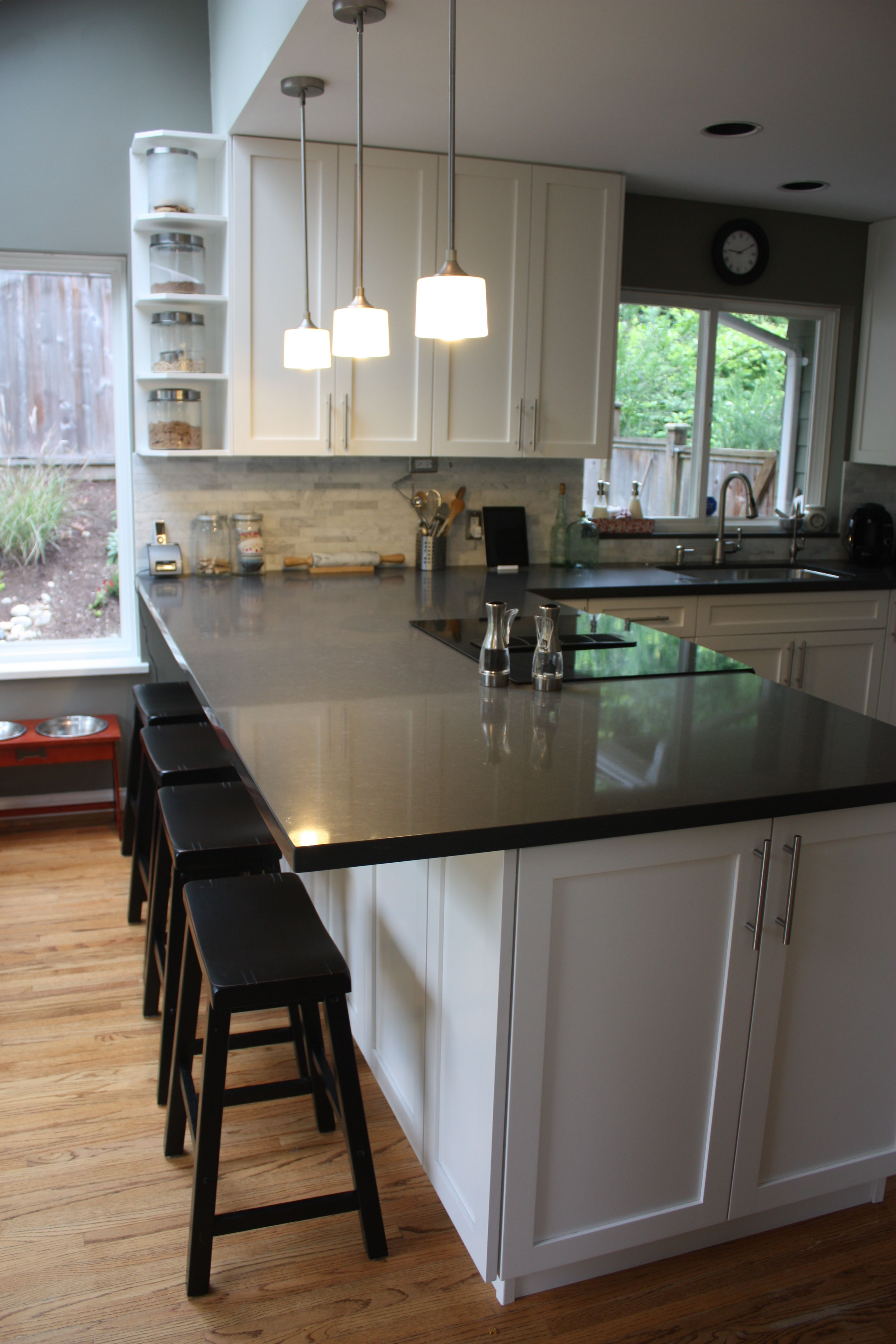 breakfast bar kitchen update cabinets extend cabinet pinterest